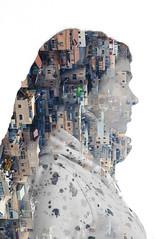 Multiexposition [1] (Mixofoss) Tags: portrait girl silhouette dreadlocks nikon exposure jerusalem processing tamron multiexposition