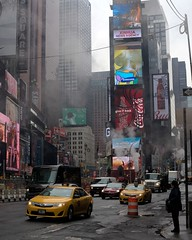 Time Square (eburriel) Tags: street nyc usa newyork car square calle cola time cab taxi voiture jour rue coca samsumg