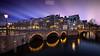 Winter in Amsterdam (Corentin Foucaut) Tags: france netherlands amsterdam rose google eau lumière bleu lee pont filtre poselongue winterinamsterdam