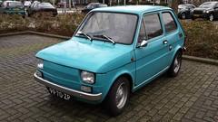 Fiat 126 (sjoerd.wijsman) Tags: auto blue holland cars netherlands car blauw fiat nederland thenetherlands voiture bleu vehicle holanda hatch autos blau paysbas voorburg olanda 126 hatchback fahrzeug bluecar niederlande zuidholland onk carspotting fiat126 carspot cwodlp 9970zp sidecode2 25012015