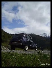Dans les Alpes... (andre2cv87) Tags: 6 ex montagne alpes citroen bleu neige 1977 nuit blanc 1500 serie dyane maritimes speciale caban meije exemplaires 0897 limitee