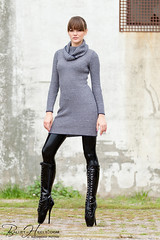 1521121233 (zo12kmeister) Tags: sexy sweater boots turtleneck balletboots cowlneck cowl sweaterdress