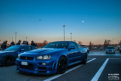 Nissan Skyline GTR R34 V-Spec (EmmeDiPhotography) Tags: sunset moon japan skyline nissan jdm gtr trackday monza r34 vspec