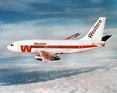 WAL Boeing 737-200 (slap757) Tags: inflight boeing 737 westernairlines theonlywaytofly boeing737200