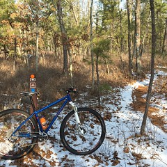 Kevin sent me this picture he took while out exploring Batsto.  #weavercycleworks #custombicycles #rideinthepines #rideinthesnow