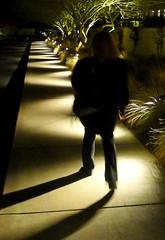 of shadow and substance (milomingo) Tags: light shadow arizona southwest contrast pattern nightshot pedestrian scottsdale