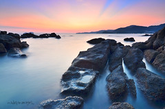 The Rocks (nadzli.azlan7) Tags: sunset sea sky asian island landscapes asia ray seascapes sunsets malaysia penang rayoflights maghrib