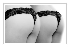 doubled (madmtbmax) Tags: blackandwhite bw woman white black sexy ass blanco beauty panties female naked 50mm mirror donna back nikon cheek underwear lace femme butt bottom lingerie double sensual sw highkey behind sexual frau schwarzweiss nero sensuel doubled