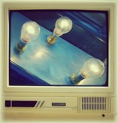Lightbox? (Jason 87030) Tags: camera old light test vintage fun tv technology shot bright artistic border creative experiment retro frame electricity bulbs watts ferguson