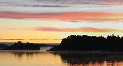 A sunrise panorama NE of Erkmpp (Kunstenniemi, Rymttyl, Naantali, 20110925) (RainoL) Tags: morning autumn sea panorama fog sunrise finland geotagged islands balticsea september v fin stitched verticalpanorama naantali 2011 rymttyl varsinaissuomi kunstenniemi 201109 20110925 geo:lat=6041635300 geo:lon=2180228200