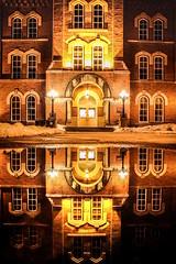 University Hall (Elliotphotos) Tags: ohio reflection night reflections puddle hall university state elliot theohiostateuniversity universityhall ohiostateuniversity the gilfix pudles elliotphotos elliotgilfix