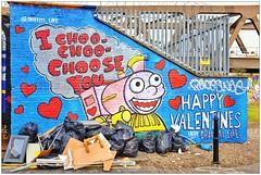 Graffiti (Graffiti Life), East London, England. (Joseph O'Malley64) Tags: uk england streetart london love wall graffiti paint valentine romance spray valentines romantic walls cans aerosol thomasthetankengine eastend eastlondon graffitilife