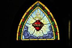 cuore rosso - red heart (immaginaitalia) Tags: windows italy church glass torino italia saints chiesa piemonte di santi turin piedmont rocco valleys valli vetrate lanzo parrocchia grato germagnano