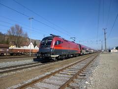 BB 1116 239 (2015-03-10) (railspotter graz) Tags: train siemens eisenbahn railway zug taurus bahn bb lokomotive lok oebb elok schnellzug personenzug railjet