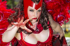 Scarlet Angel Strikes... (Ring of Fire Hot Sauce 1) Tags: wings cosplay feathers lingere sdcc sandiegocomiccon scarletwitch victoriassecretangel elisateague