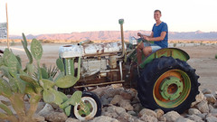 Markus (Germany) on Old Tractor, Solitaire, Namibia (dannymfoster) Tags: africa namibia solitaire tractor desert scenery