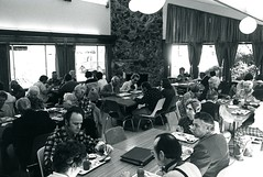 Albion dining room, wide view (PUC Special Collections) Tags: california coastal mendocino 1960s norcal 1970s biology tidepools puc albion estuaries mendocinocounty pacificunioncollege albionfieldstation albionbiologicalfieldstation pucbiologydepartment