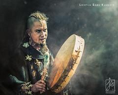 Shaman (Juhamatti Vahdersalo) Tags: old light portrait man costume nikon theatre drum smoke nostalgic actor wisdom nikkor cinematic act shaman mystic d610 2870mm