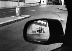 Hospital reflection (Eric Hartke) Tags: blackandwhite film diy kodak d76 ilfordhp5 canadaday nikkormat filmisnotdead 50f2 loveoffilm