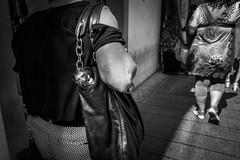 girl in bag (MarioMancuso) Tags: life street urban bw italy white black monochrome photography mono italian italia streetphotography documentary mario scene bn naples fujifilm reportage photogrphy mancuso