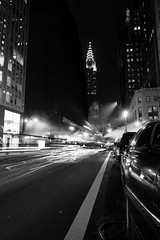 Chrysler (agruebl) Tags: city nyc ny newyork motion night downtown nacht manhattan chryslerbuilding nuit longtimeexposure motionnightshot