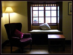 finding a sweet, familiar, old corner in Ireland (Maewynia) Tags: celtica2016 renvylehouse hotel window chair countryhouse yeats gogarty connemara galway lamp cushion windowseat