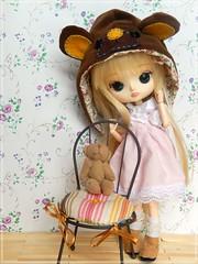 Desafio 7 dias - Dia 2: Mush - Dal Magical Pink Chan (Pliash) Tags: dal doll pullip magical pink chan girl cute kawaii loli lolita bear flowers vintage