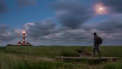 way back home (jwfoto1973) Tags: longexposure bridge moon night germany landscape deutschland nikon full brcke landschaft leuchtturm nachtaufnahme vollmond langzeitbelichtung leuchtfeuer blauestunde westerhever westerheversand d7100 seegraswiese johannesweyers