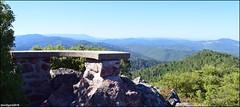 Montcalm, table d'orientation nord, vue sur le Mont Lozre (gunger30) Tags: saintjeandupin montcalm montagne cvennes gard campagne ciel panorama pointdevue horizon tabledorientation