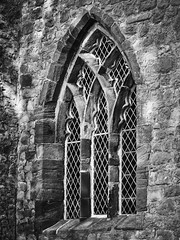 St.Helen's church window (Man with Red Eyes) Tags: window sthelens churchtown hasselblad h1 p45 phaseone captureone v9 blackwhite monochrome preston lancashire