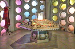 Hold tight this could be a bumpy ride! (Darling Starlings Flying the Nest) Tags: tardis controls doctorwho cardiff wales