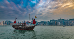 Dragon Boot (alexhfotoblicke) Tags: hongkong sky dragonboot nikon nikond750 city victoriaharbor