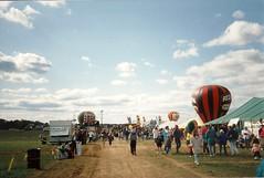 Balloon Fest (railynnelson) Tags: balloonfest hotairballoon harrisburg pennsylvania 1990 redbaronpizza
