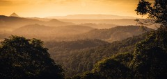 Misty Mountains (Augmented Reality Images (Getty Contributor)) Tags: australia canon haze hinterland landscape leefilters mist mountains panorama queensland stitch sunset sunshinecoast trees valley