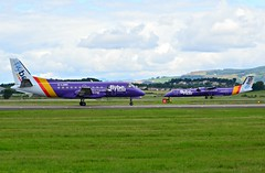 FlyBE Saab340 and DHC-8 at Glasgow (Allan Durward) Tags: saab340 dhc8 egpf glasgow glasgowairport flybe loganair scotland airport glgnc q400 dash8 dhc8q400 dash8400