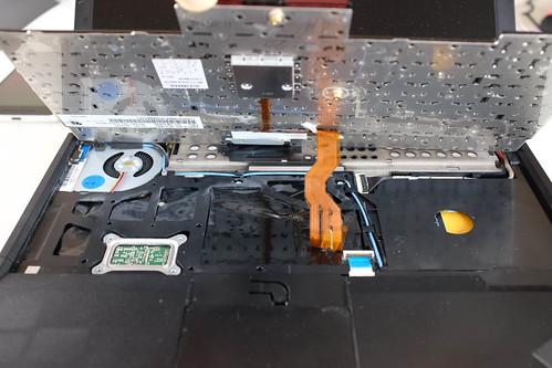 Keyboard tilted up