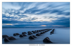 Sea Defences II (Phil Durkin) Tags: 2016 clouds england merseyside newbrighton perchrock sea thewirral uk beach cloudscape daytime groynes longexposure seadefence shore shoreline summer tide waves