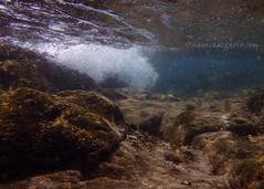 Breaking Waves (.annajane) Tags: underwater water waves ola olas bajoelagua submarino agua wave bubbles lanzarote spain snorkelling burbujas espaa islascanarias canaryislands rocks roca