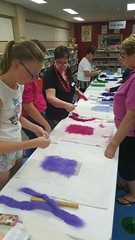Felt bowl making April 2015 (Riverina Regional Library) Tags: bland library nswpubliclibraries creativelibraries