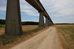 long is the road (_wysiwyg_) Tags: paysage landscape dsert deserted monorail bton concrete campagne countryside abandoned abandonn graffiti tags portes doors espace lignesdefuite perspective empty emptiness