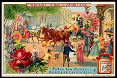 Liebig Tradecard S927 - French Flower Festival (cigcardpix) Tags: tradecards advertising ephemera vintage chromo liebig