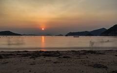 Hong Kong Sunset (JOΣ) Tags: colourful contrast holiday beach sea slowshutterapp longexposure sunset apple iphone asia hongkong
