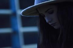 XIX (Rubn T.F.) Tags: girl bridge porttrait woman winter rain blue bokeh sigma