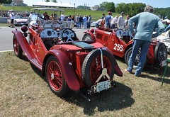 2015 Lime Rock Vintage Weekend (caboose_rodeo) Tags: 782 red automobile car spokewheels british