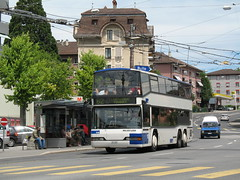 2007-06-17 - Lausanne, Sallaz (lausanne1000) Tags: bus public transport v ffentlicher verkehr switzerland suisse schweiz svizzera autobus coach neoplan deux tages double deck doppeldeckerbus trafic rgional moudon tunnel tl lausanne vaud lman