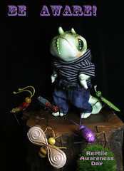 Being green (bentwhisker) Tags: doll bjd resin reptiledoll lucas lizard chameleon anthro reptileawarenessday reptile bugs insects 3505