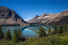 Bow Lake 3 (Mala Gosia) Tags: kajtek malagosia oct212016 bowlake numtijahlodge banffnationalpark ab outdoor canoneos6d landscape canada water lake trees stones rocks rockies alberta simpsonsnumtijahlodge