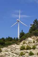 Danish windpower (Steenjep) Tags: mountain outback hillside green nature samos greece holiday ferie grkenland wilderness vindmlle windmill windturbine denmark negmicon