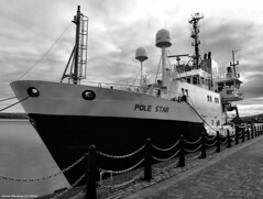 Scotland Greenock Lighthouse and North Atlantic navigation buoy repair ship Pole Star 20 October 2016 by Anne MacKay (Anne MacKay images of interest & wonder) Tags: scotland greenock lighthouse north atlantic navigation buoy repair ship pole star monochrome blackandwhite xs1 20 october 2016 picture by anne mackay