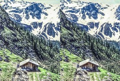 The chalet 3D (Bruno Zaffoni) Tags: montestelvio trentino italy 3d stereoscopy stereophotography